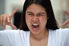 Giovane diversa donna femminile spaventosa immagini stock libere da diritti