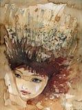 Giovane donna royalty illustrazione gratis
