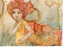 Giovane donna illustrazione di stock