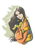 Giovane donna 15 Illustrazione Vettoriale