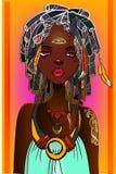 Giovane donna africana illustrazione vettoriale