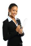 Giovane donna africana americana di affari Immagini Stock Libere da Diritti