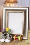 Struttura benvenuta del regalo del bambino decorata Fotografia Stock Libera da Diritti
