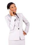Giovane donna africana di affari Fotografia Stock