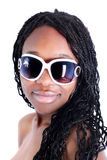 Giovane donna afro-american Fotografie Stock Libere da Diritti