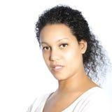 Giovane donna afroamericana seria Fotografia Stock Libera da Diritti
