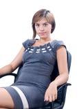 Giovane donna all'ufficio Fotografia Stock Libera da Diritti