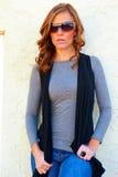Giovane donna alla moda Fotografie Stock