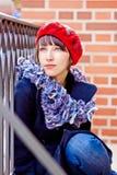 Giovane donna alla moda Fotografia Stock Libera da Diritti