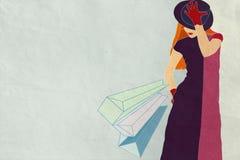 Giovane donna alla moda Immagine Stock Libera da Diritti