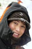 Giovane donna alle montagne di Pirenei Immagine Stock Libera da Diritti