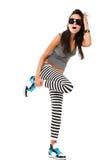 Giovane donna allegra Fotografia Stock Libera da Diritti