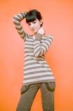 Giovane donna allegra.   immagine stock libera da diritti