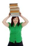 Giovane donna (allievo) con i libri Fotografie Stock