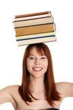 Giovane donna (allievo) con i libri Fotografia Stock Libera da Diritti