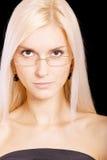 Giovane donna-allievo su bianco Immagini Stock Libere da Diritti