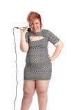 Giovane donna alternativa grassottella fotografia stock