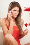Giovane donna arrabbiata Fotografia Stock