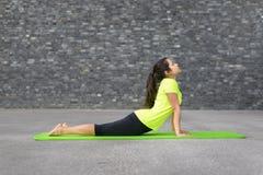 Giovane donna atletica adatta che fa gli esercizi di yoga Immagini Stock Libere da Diritti