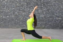 Giovane donna atletica adatta che fa gli esercizi di yoga Immagine Stock Libera da Diritti