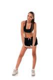 Giovane donna atletica che fa allenamento Immagine Stock