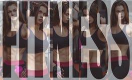 Giovane donna atletica dopo l'allenamento duro alla palestra La ragazza di forma fisica tiene l'agitatore con nutrizione allegra  Immagini Stock Libere da Diritti