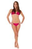 Giovane donna attraente in bikini fotografia stock libera da diritti