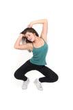 Giovane donna attraente che fa forma fisica Fotografia Stock Libera da Diritti