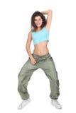 Giovane donna attraente che fa forma fisica Fotografie Stock