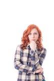 Giovane donna attraente che pensa Immagine Stock Libera da Diritti