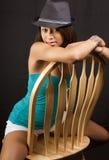 Giovane donna attraente del brunette Immagine Stock Libera da Diritti