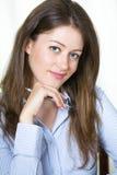 Giovane donna attraente di affari Immagini Stock Libere da Diritti