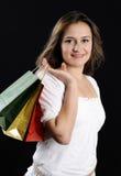 Giovane donna attraente di compera Fotografia Stock