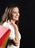Giovane donna attraente di compera Immagini Stock