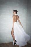 Giovane donna attraente in vestito Immagini Stock