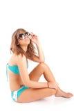 Giovane donna in bikini fotografia stock