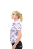 Giovane donna nell'abbigliamento casual Fotografie Stock