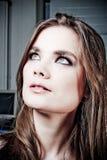 Giovane donna, brunette Fotografie Stock