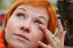 Giovane donna capa rossa Fotografie Stock Libere da Diritti