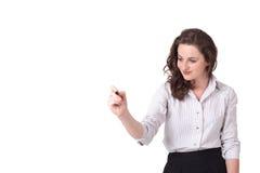 Giovane donna che attinge wihteboard immagine stock libera da diritti