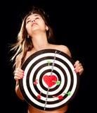 Giovane donna che cade nel concetto di amore Fotografia Stock
