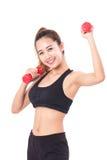 Giovane donna che fa esercizio di forma fisica Fotografia Stock