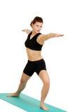 Giovane donna che fa i pilates Fotografia Stock