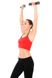Giovane donna che fa un allenamento di forma fisica Fotografia Stock Libera da Diritti
