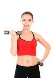 Giovane donna che fa un allenamento di forma fisica Fotografie Stock Libere da Diritti