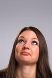 Giovane donna che osserva in su Fotografia Stock Libera da Diritti