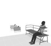 Giovane donna che si siede sulla presidenza Immagine Stock