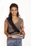 Giovane donna che va indietro al banco Fotografia Stock