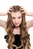 Giovane donna con bei capelli Immagini Stock Libere da Diritti