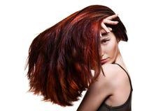 Giovane donna con capelli meravigliosi Fotografia Stock Libera da Diritti